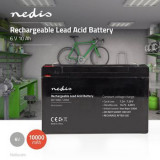 Acumulator plumb acid Nedis 6V 10AH