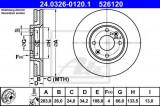 Disc frana CITROEN XSARA (N1) (1997 - 2005) ATE 24.0326-0120.1