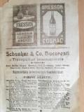 Cumpara ieftin reclama lichioruri, cognacuri, siropuri, 1922 / Schenker & Co, Bucuresti, transp
