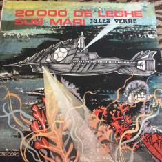 jules verne 20.000 de leghe sub mari disc vinyl lp electrecord poveste pt copii