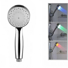 Cap de dus cu senzor de temperatura LED Shower