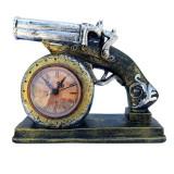 Cumpara ieftin Ceas de masa, in forma de pistol, 23 cm, 1560G