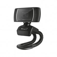 Camera web Trino Trust, HD, 720 p, USB, microfon incorporat, Negru