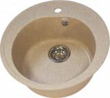Chiuveta rotunda de bucatarie Ulgran U-101-302 Nisip, Compozit, Lucios