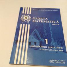 GAZETA MATEMATICA  ,NR 1/2014
