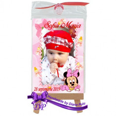 Marturii botez magneti Handmade by Diana Puiu Minnie Mouse MDFM 25