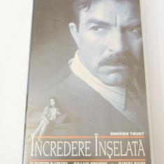 Caseta video VHS originala film tradus Ro - Incredere Inselata