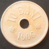 Moneda ISTORICA 10 BANI - ROMANIA, anul 1906   *cod 2846