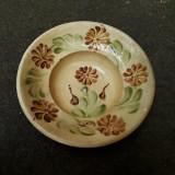 1. Farfurie veche din ceramica pentru agatat pe perete blid vechi lut 22 cm