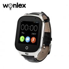 Ceas Smartwatch Wonlex GW1000S cu Functie Telefon, Localizare GPS, Camera, 3G, Pedometru, SOS, Android - Negru