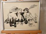 "Grafica-""La cabaret""-YOR (Petre Iorgulescu / 1890-1939)"