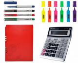 Set Agenda A5 100 file, Calculator, Pix , Textmarker
