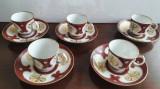 Antichitate, foarte vechi SERVICIU cafea PORTELAN EXTREM DE FIN, Farfurii