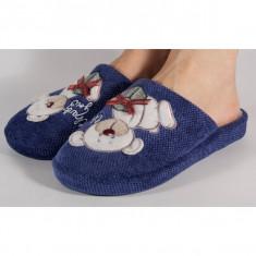 Papuci de casa albastri (cod 192-1801093)