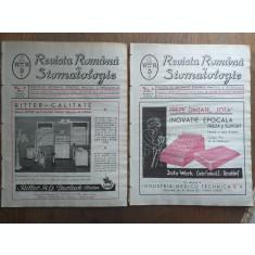 REVISTA ROMANA DE STOMATOLOGIE, 1937, COLECTIE COMPLECTA,6 NUMERE