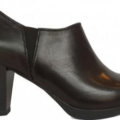 Pantofi dama cu usoara platforma Marzo Tozzi 2-2-24492-21 002 black antic