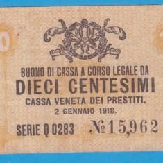 (1) BANCNOTA ITALIA - 10 CENTESIMI 1918