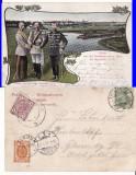 Polonia, Germania,Austria,Rusia-Myslowitz-Granita a 3 imperii-clasica, Circulata, Printata