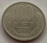"""100 Lei 1991 Romania, varianta """"99"""" cu codita rotunjita, RARA!"""