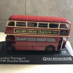 Macheta metalica,autobus londonez,cu etaj