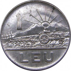 Romania,  1 leu 1963_Republica Populara Romana * cod 184 foto