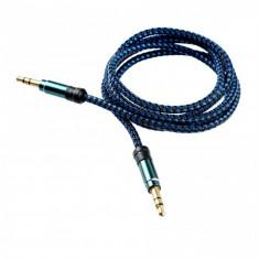 Cablu audio Tellur Jack 3.5mm 1m Albastru