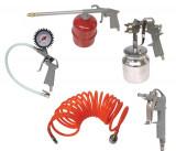 Kit compresor aer Carpoint 5 piese : Furtun presiune 4m si pistol umflat, lichid , vopsitorie si suflat aer