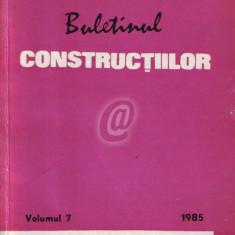 Buletinul constructiilor, vol. 7 (1985)
