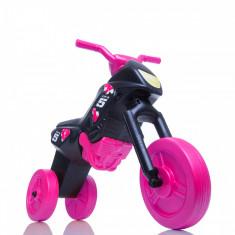 Tricicleta fara pedale Enduro negru roz