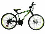 """Bicicleta MTB Vision Tiger 2D Suspensie Fata Culoare Negru/Verde Roata 26"""" OtelPB Cod:202604010304"""