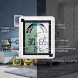 Termometru si higrometru de camera JustZen™, ecran 112x95mm, ceas cu alarma