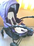 Vând cărucior 3 în 1 Optima Purple, Violet