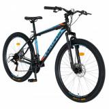 Bicicleta MTB-HT Velors Challange CSV2710A 27.5 inch cadru negru cu design albastruportocaliu