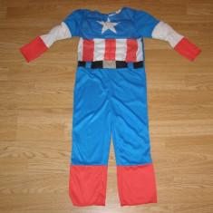 Costum carnaval serbare captain america pentru copii de 3-4 ani, Din imagine