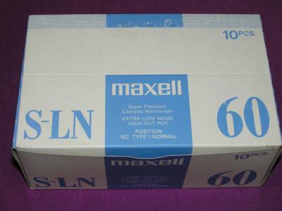Caseta audio Maxell S-LN 60 foto