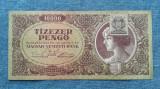 10000 Pengo 1945 Ungaria / Tizezer Pengo / varianta cu timbru / seria 061986