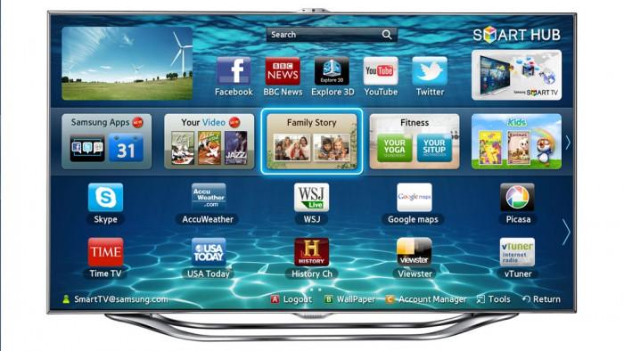 Slim smart LED 3D TV Samsung 138 cm, Full HD 55ES8000 cu ochelari 3D gratuit