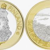 Finlanda moneda bimetal 5 euro 2018 UNC in capsula - Regiunea Maritimes Helsinki, Europa