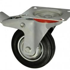 "Roata carucior 3 - talpa metal - rulment - 75/25-50 - frana"" - MTO-GPA00060"