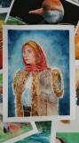 Pictura in acuarela - portret tarancuta