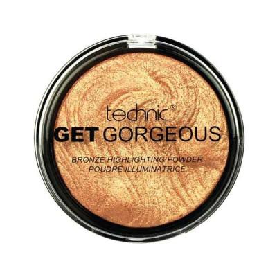 Iluminator cu particule aurii Technic Get Gorgeous Highlighting Powder 24CT Gold 12g foto