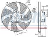 Ventilator radiator SEAT CORDOBA, CORDOBA VARIO, IBIZA II, INCA; VW CADDY II, POLO, POLO CLASSIC 1.0-2.0 intre 1993-2004, Nissens
