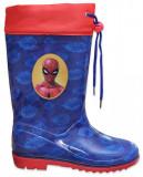 Cizme de ploaie pentru baieti cu imprimeu Spiderman, Blue