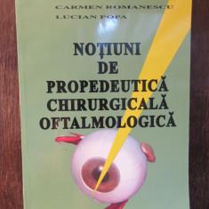 Notiuni de propedeutica chirurgicala oftalmologica- Sergiu Buiuc...