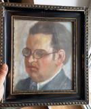Ulei pe carton, pictor ardelean, inramat in Cluj Napoca - perioada interbelica, Portrete, Realism