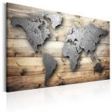 Tablou canvas - Lumea de argint - 90 x 60 cm, Artgeist