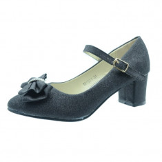 Pantofi eleganti cu toc fetite MRS M1501N, Negru