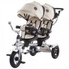 Tricicleta Gemeni Tandem Beige, Chipolino