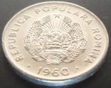 Moneda 15 BANI - RP ROMINA, anul 1960 *cod 2223 B