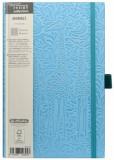 Cumpara ieftin Bloc Notes Ivory Animals, 240 pagini, patratele, coperta PU, bleu, motiv Giraffe